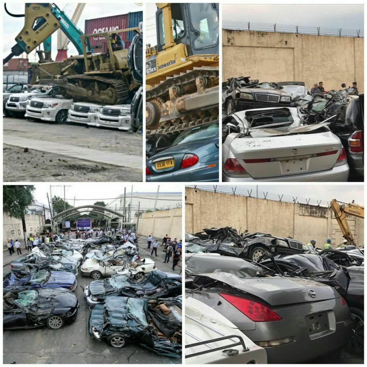اوراق کردن ماشین های قاچاق