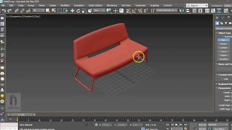 آموزش 3Dmax، مدلسازی مبل راحتی