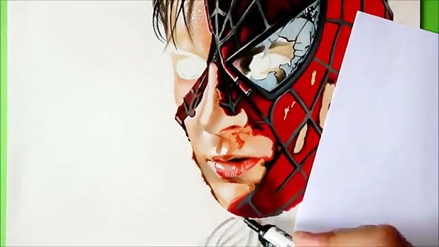 نقاشی زیبا مرد عنکبوتی