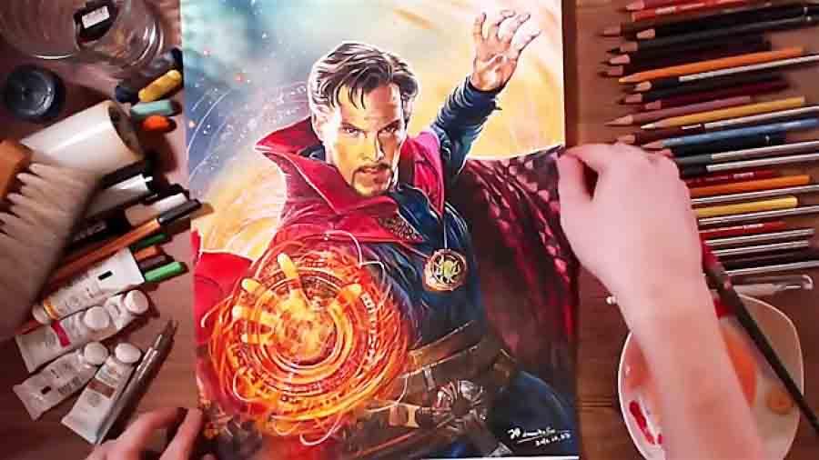 نقاشی زیبا دکتر استرنج