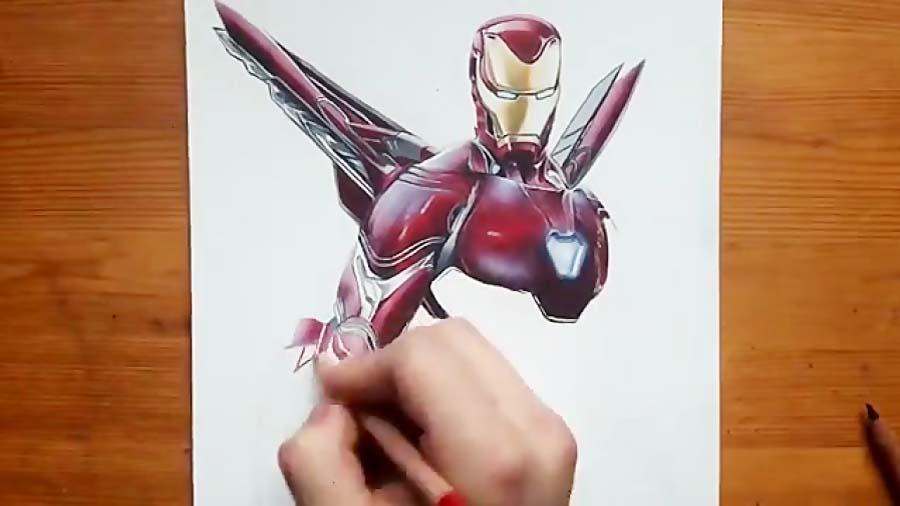نقاشی زیبا مرد آهنی
