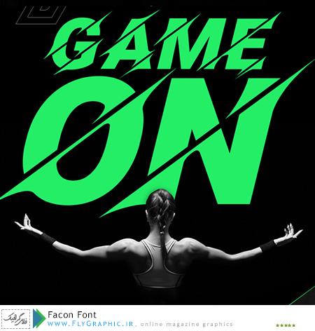 فونت انگلیسی اسپرت – Facon Font
