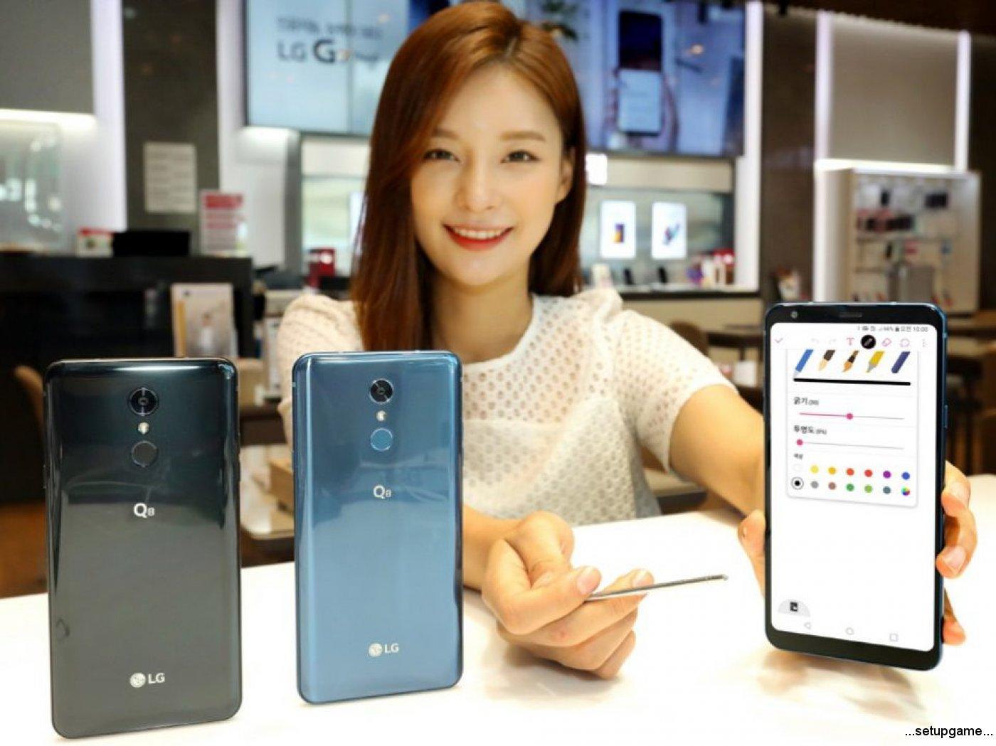 الجی از گوشی Q8 سال 2018 با نمایشگر 6.2 اینچی و قلم رونمایی کرد