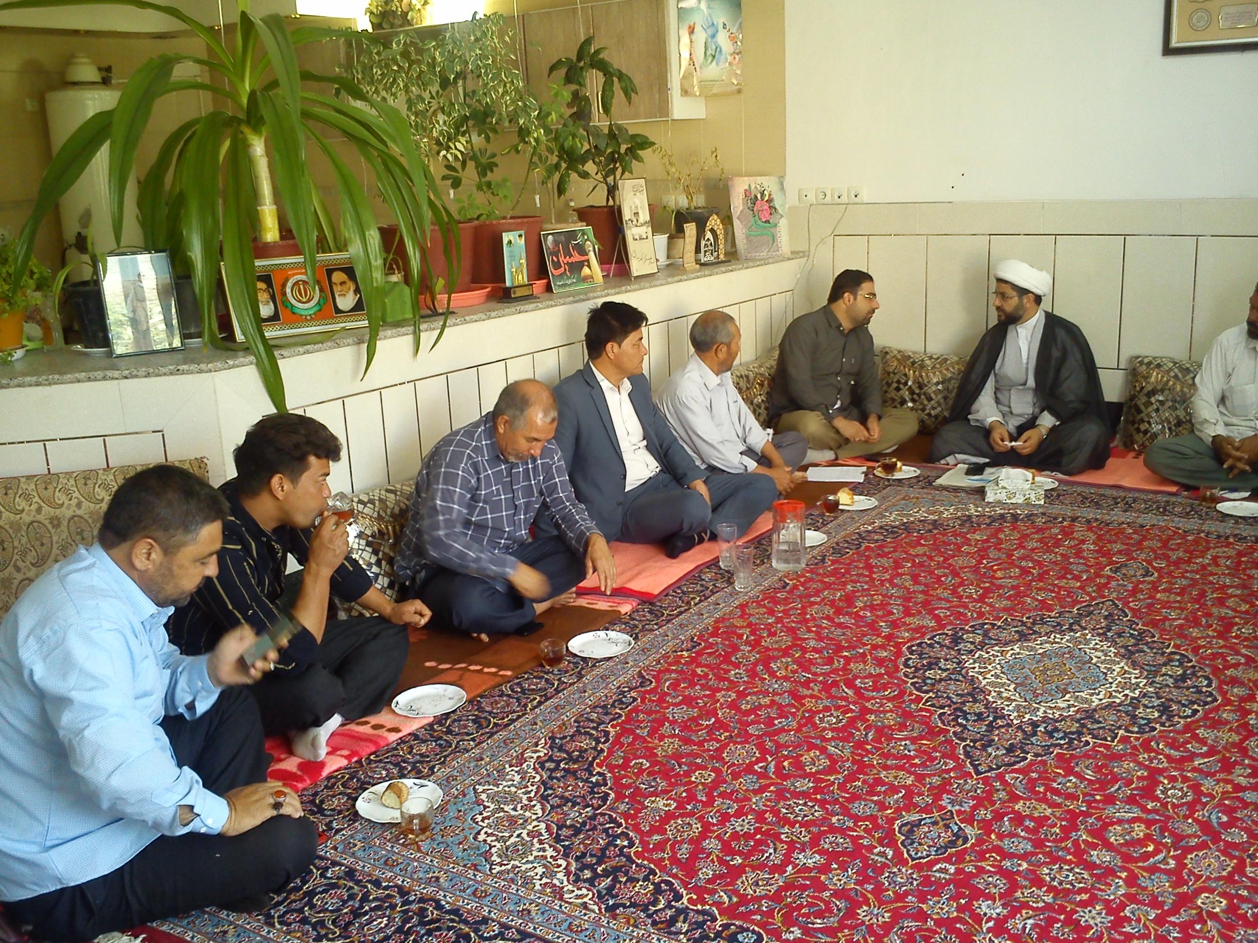 جلسه هماهنگی همایش بزرگ مدافعان حرم با حضور امام جمعه محترم شهر قهدریجان و جمعی از لشگر فاطمیون