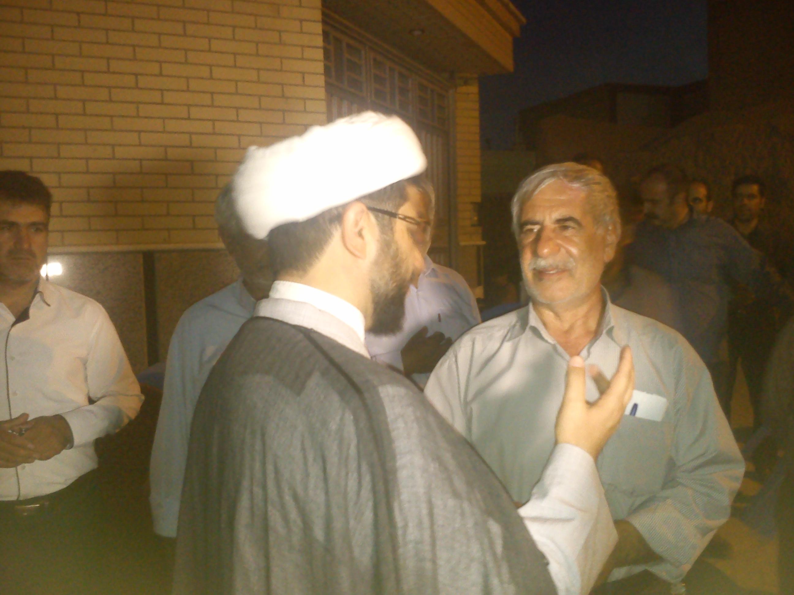 دیدار امام جمعه محترم شهر قهدریجان با بردار سردار شهید مهندس کاظم زاده