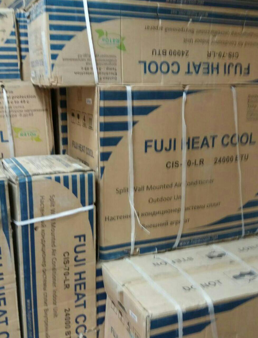 اسپیلت کولر گازی فوجی fuji سرمایشی گرمایشی عالی کم مصرف با گاز r410