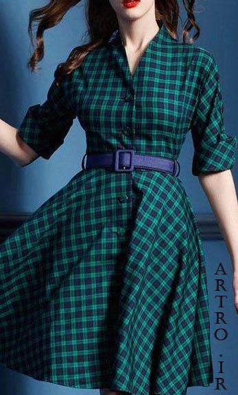 مدل مانتو چهارخانه دخترانه2019