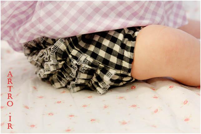 آموزش دوخت شورت نوزاد