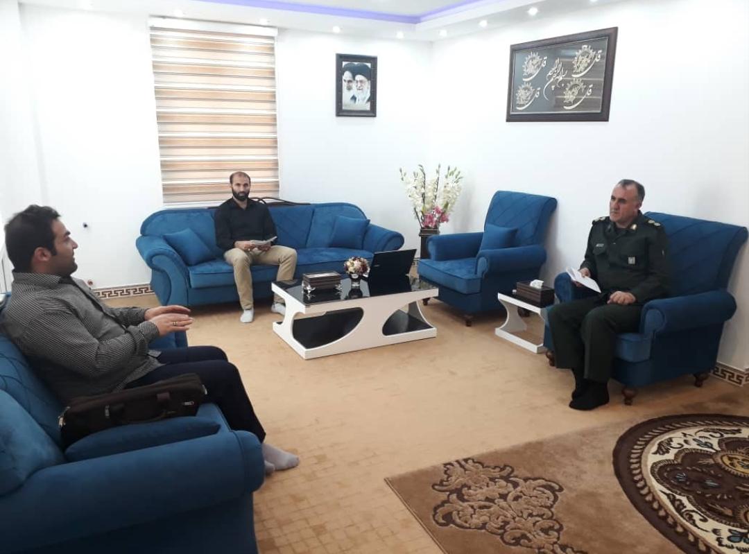 جلسه مسئول گروه جهادی افسران ولایت با رئیس سازمان بسیج سازندگی استان بوشهر