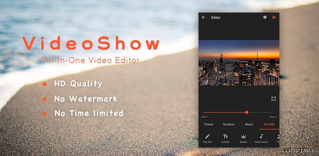 دانلود VideoShow Pro: Video Editor 8.0.3rc - ویدئو ادیتور قوی