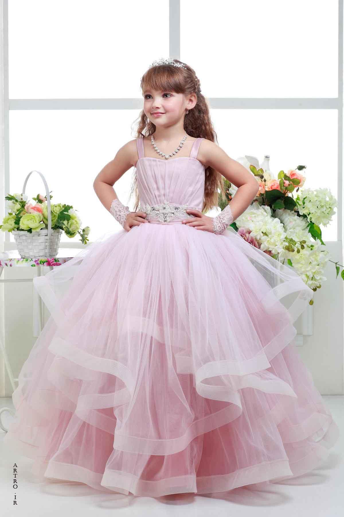 بیست مدل لباس عروس و مجلسی بچه گانه 2019