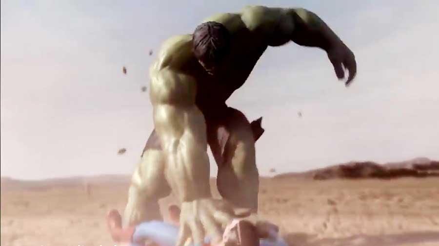 مبارزه سوپرمن و هالک قسمت ۲