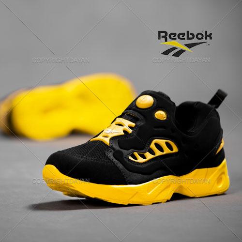 فروش کفش مردانه Reebok مدل Rasel (مشکی زرد) - کتانی ریباک