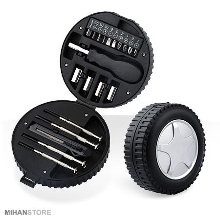 خرید جعبه ابزار با ابزار کاربردی در یک بسته Tire Mini Tool Kit