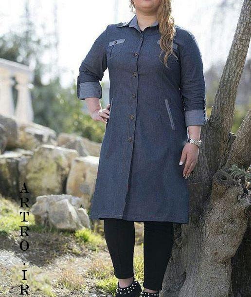 مدل مانتوی زنانه سایز بزرگ 2018-2019