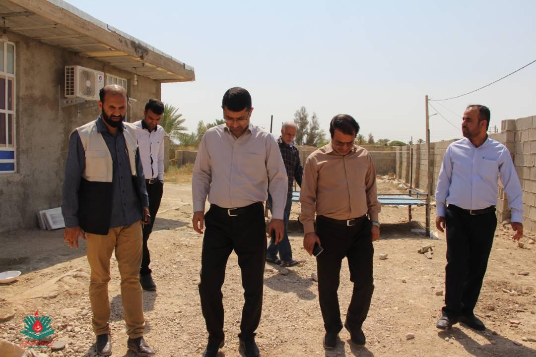 بازدید رئیس دانشگاه علمی کاربردی و مسئول ناحیه بسیج دانشجویی استان از فعالیتهای جهادگران بوشهری