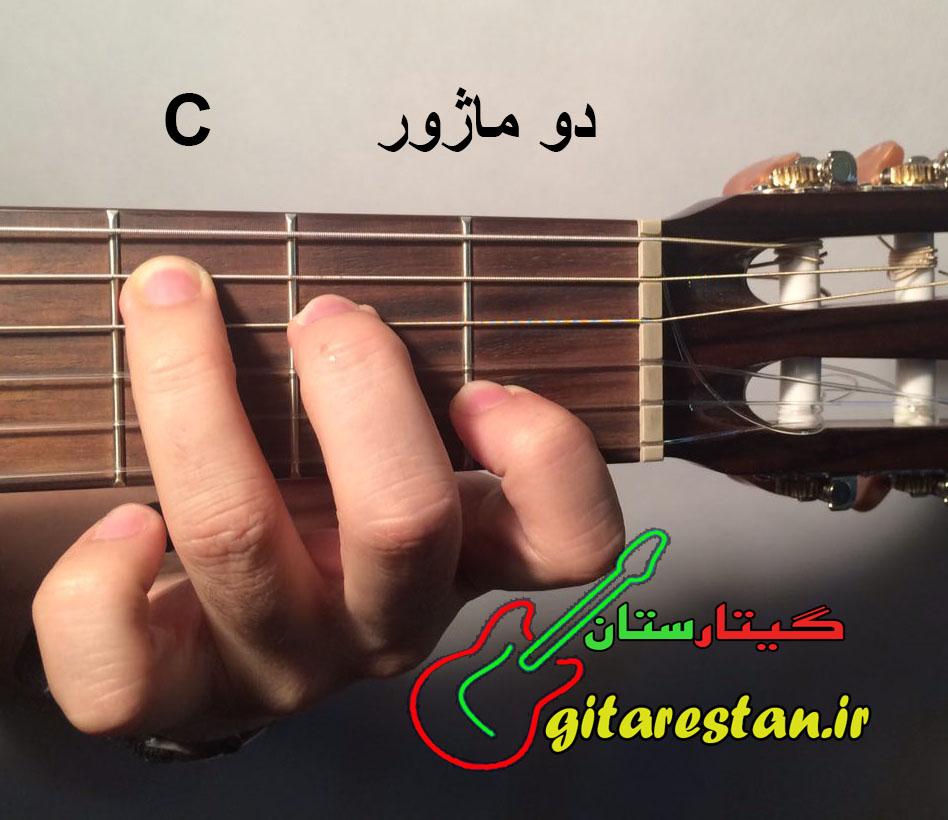 آکورد دو ماژور - گیتارستان