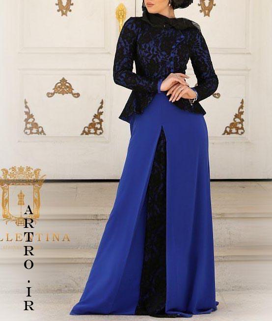مدل لباس مجلسی بلند پوشیده