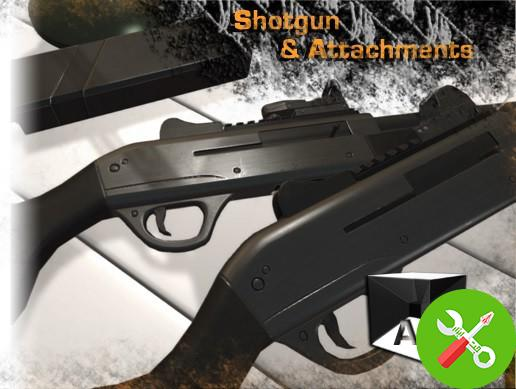 مدل Shotgun & Attachments