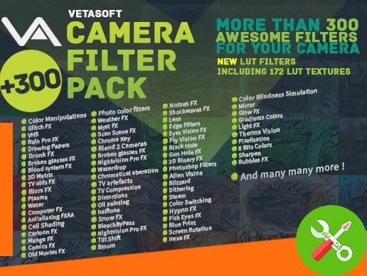 پکیج یونیتی Camera Filter Pack