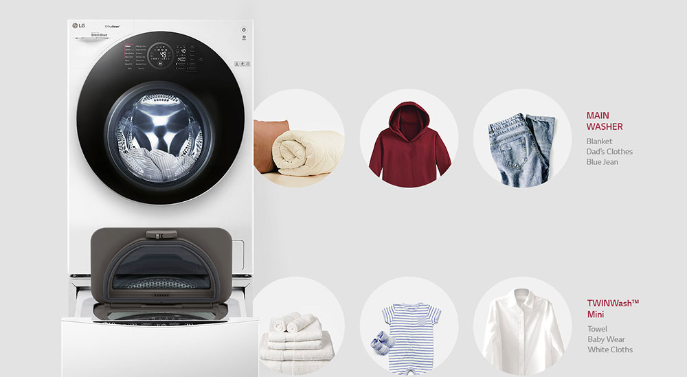 ماشین لباسشویی ال جی FH4G1JCHK6N