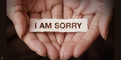 عکس نوشته معذرت خواهی از عشقت به انگلیسی