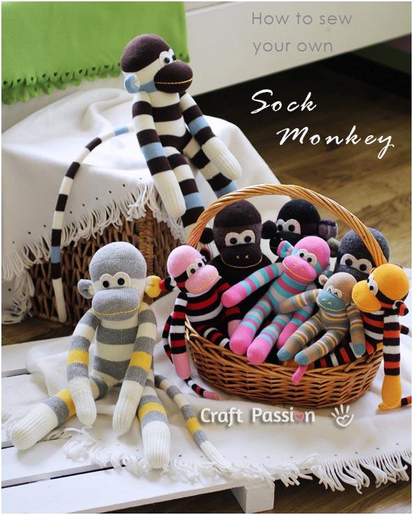 آموزش تصویری دوخت عروسک میمون
