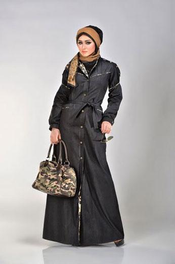 مدل مانتو عربی بلند مشکی,