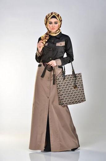 مدل مانتو بلند عربی ساده