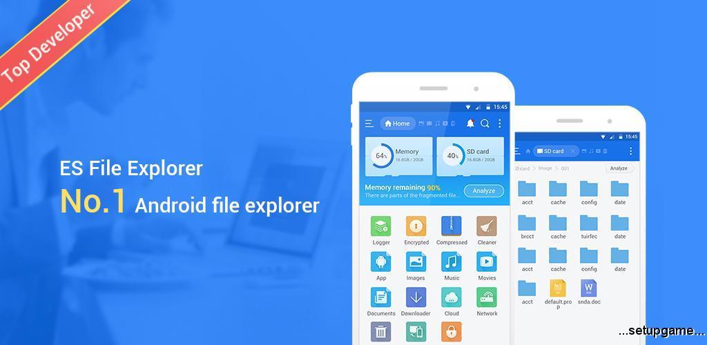 دانلود ES File Explorer File Manager Mod 4.1.8.7.1 - فایل منیجر فوق العاده
