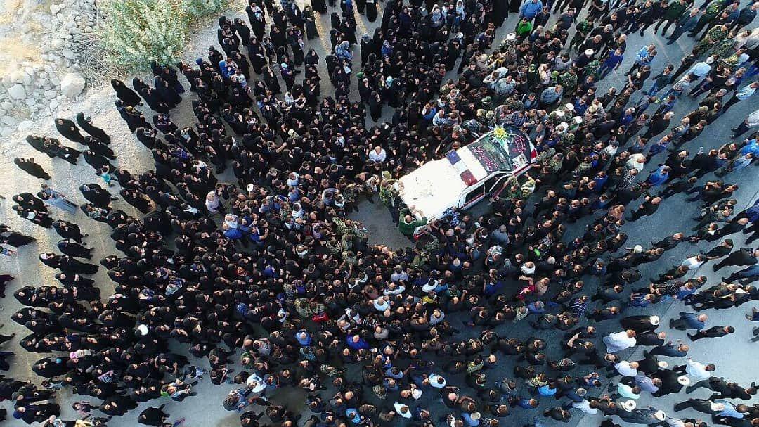 گزارش تصویری از وداع با شهید مدافع حرم حجت الاسلام طالبی