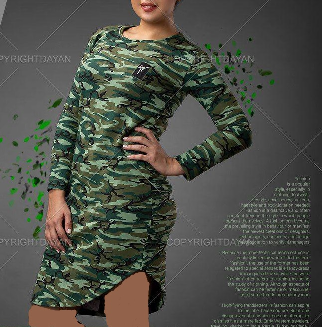 تونیک ارتشی زنانه