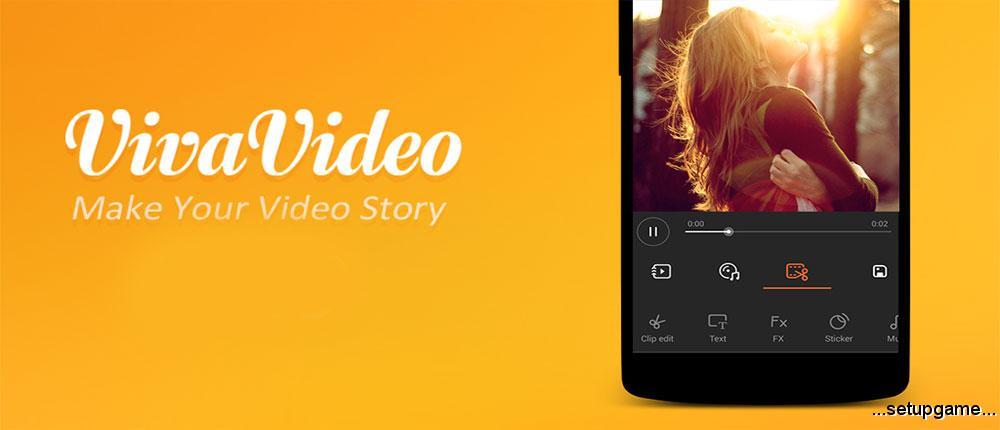دانلود VivaVideo Pro: Video Editor 5.8.4 - بهترین برنامه دوربین فیلمبرداری اندروید