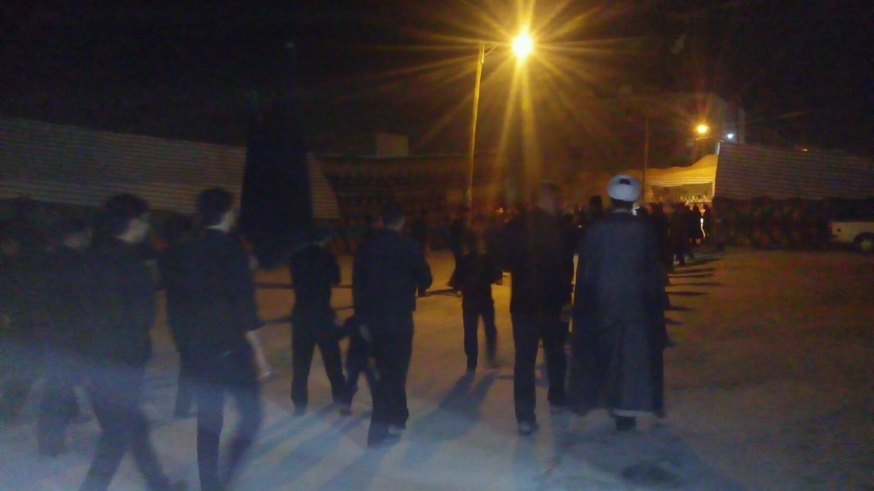 حضور امام جمعه محترم شهر قهدریجان در دسته های عزاداری در سطح شهر