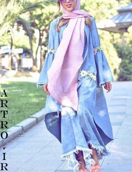 جدیدترین مدل مانتو جین دخترانه
