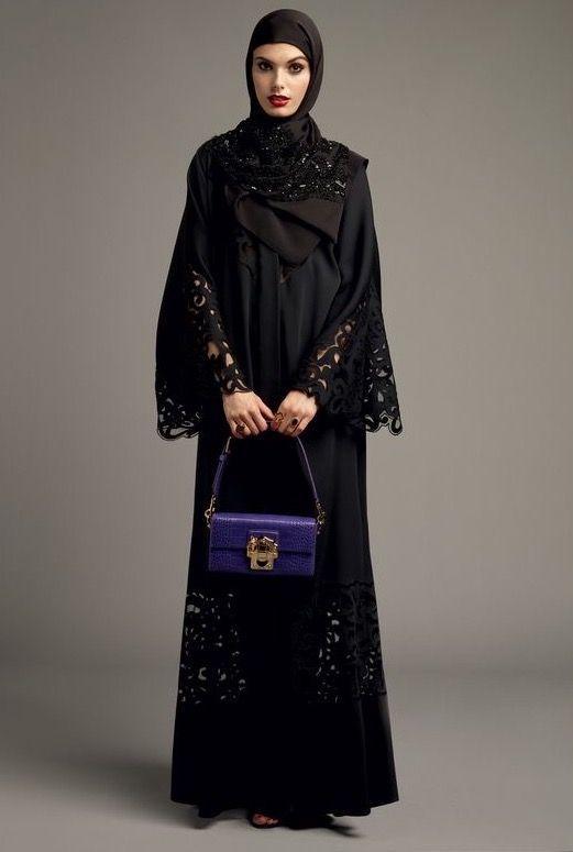 مدل مانتو مشکی بلند زنانه 2018