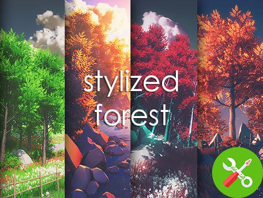 پکیج Stylized Forest Environment