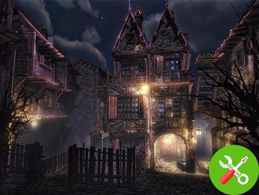 محیط ترسناک یونیتی Haunted Town