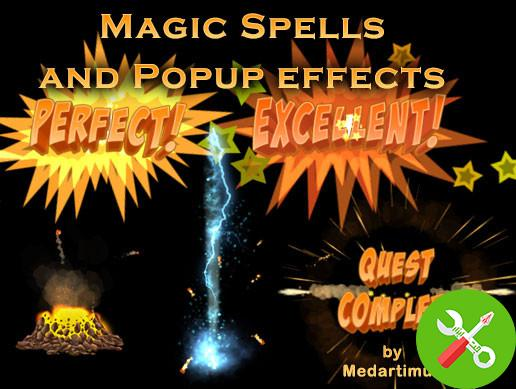 پکیج Magic Spells and Popup effects