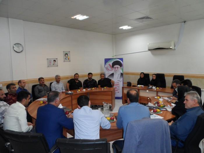 پنجاهمین جلسه شورای اسلامی شهر وحیدیه باحضور نماینده ورزشکاران شهر وحیدیه