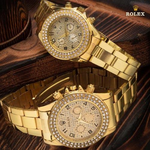 ست ساعت مردانه و زنانه Rolex مدل Regla(طلایی) با تخفیف 45,000 تومان