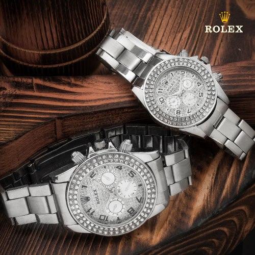 ست ساعت مردانه و زنانه Rolex مدل Regla(نقره ای) با تخفیف 45,000 تومان