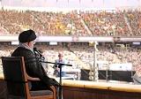 امام خامنهای در ورزشگاه آزادی