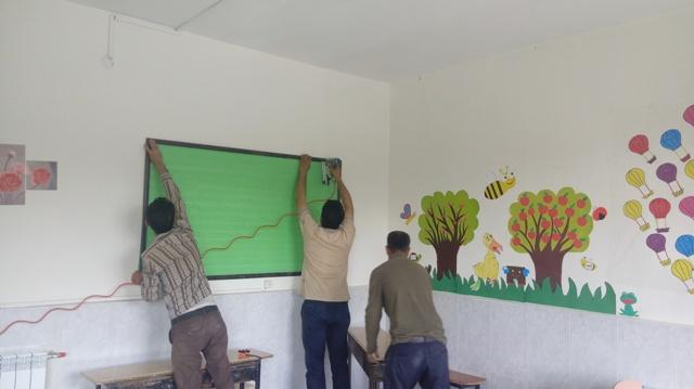 نصب تابلوی اعلانات در کلاس های درس و سالن آموزشگاه