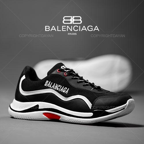فروش کفش مردانه Balanciaga مدل K1073 (مشکی سفید)