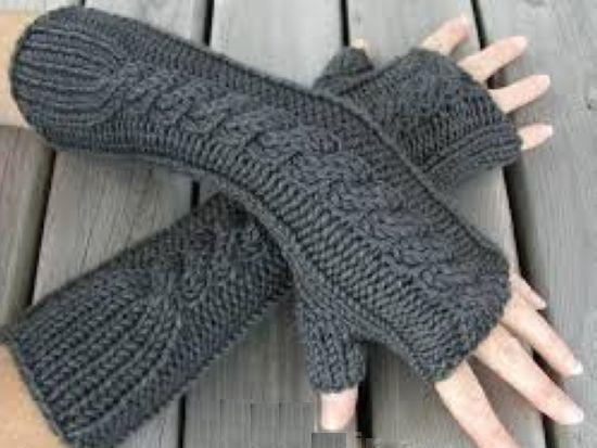 مدل دستکش و ساق بافتنی دخترانه 5