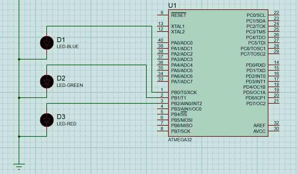 دانلود سورس جدید روشن و خاموش کردن 8 LED در پروتئوس