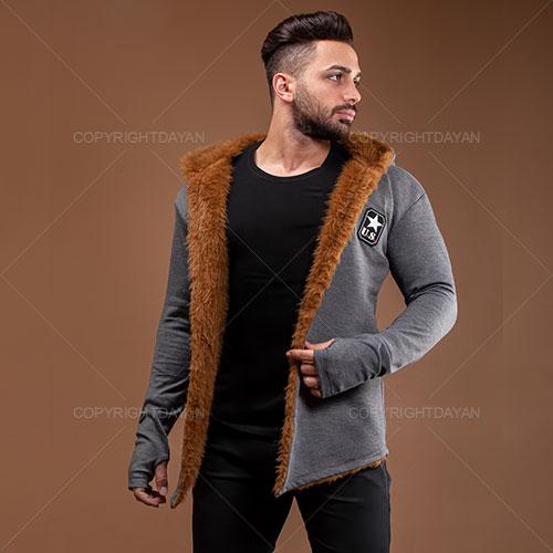 فروش شنل خزدار مردانه Zima مدل T3899 - لباس گرم