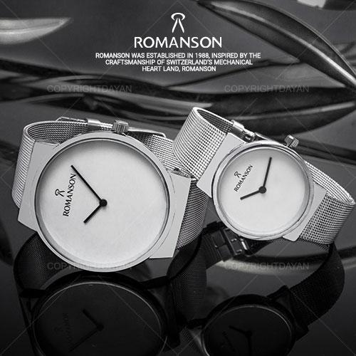 فروش ست ساعت مردانه و زنانه Romanson مدل Lokoz(نقره ای)