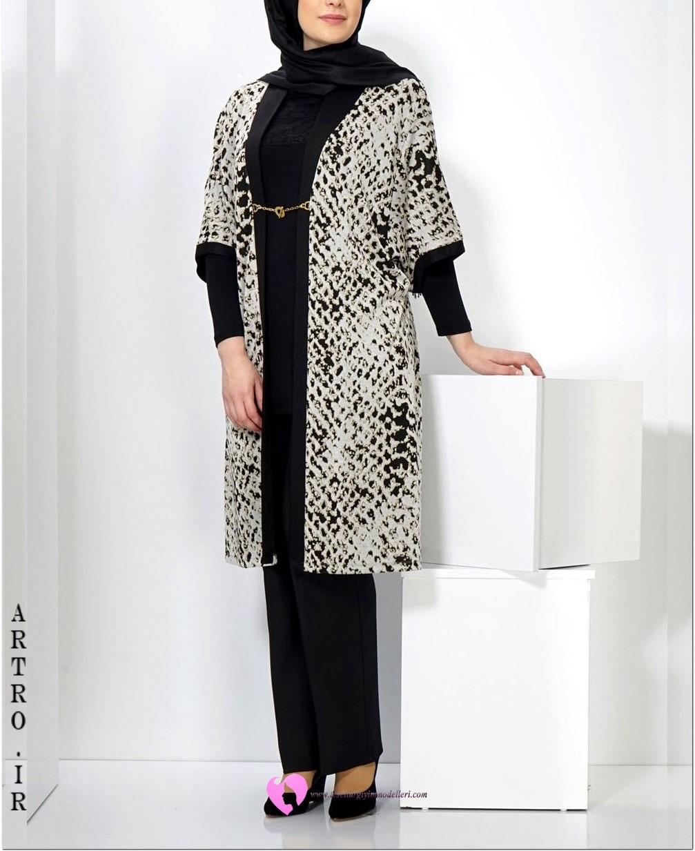 عکس مدل مانتو زنانه سایز بزرگ2018-97